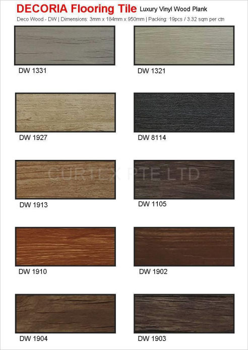Decoria Luxury Vinyl Tiles, wood plank flooring