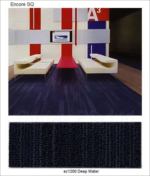 Encore carpet tile, PP, loop pile, 50cm x 50cm