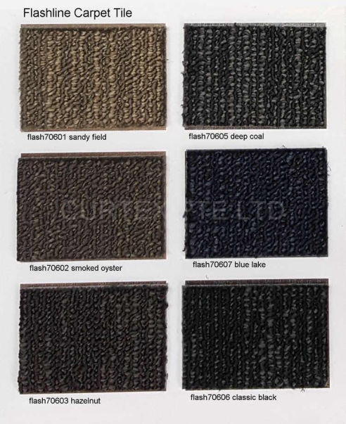 Flashline carpet tile, PP, loop pile, 50cm x 50cm