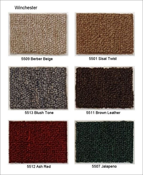 Winchester Roll Carpet, PP material, loop pile, a low cost, cheap but very durable and strong type of carpet for office flooring.